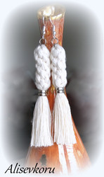 4102 Alise Design Ristikko makrame korvakorut valkoinen, valitse malli