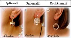 4116 Alise Design Korvarenkaat kristallisydän