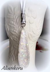 4120 Alise Design Rainbow lasiriipus, nahkanauha/ketju