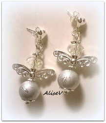 4134 Alise Design Helmi enkeli korvakorut 1