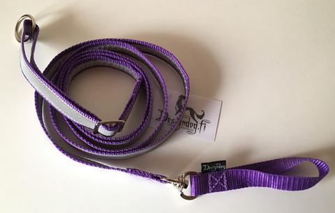 Designdog lukoton heijastintalutin 200 cm, 20 mm violetti