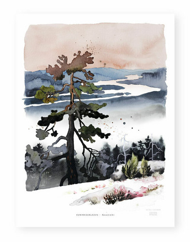 Ester Visual: Kuninkaanlaavu 30x40 cm