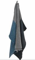 Lapuan Kankurit: Terva-pyyhe 85 x 180 cm, musta-multi-sateensininen