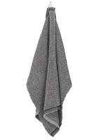 Terva-pyyhe 85 x 180 cm, musta-pellava
