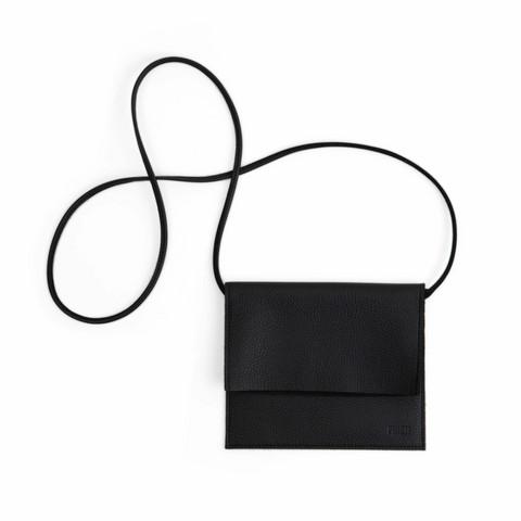 Miiko Jemma-laukku, hirvennahkaa, musta