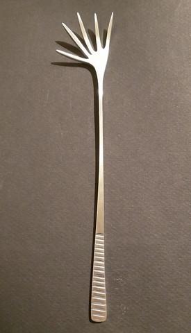 Latimeria 5-piikkinen haarukka ruostumaton teräs, harjattu pinta