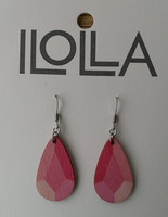 Heijastus-korvakorut koukulla,  vadelmanpunainen
