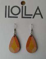 Heijastus-korvakorut koukulla,  oranssinkeltainen