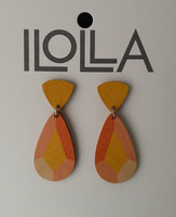 Heijastus-korvakorut nappismalli, oranssi-keltainen