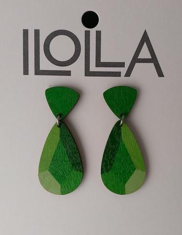 Heijastus-korvakorut nappismalli, vihreä