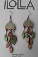 Pisaroi-korvakorut koukulla, mintunvihreä-persikka