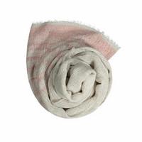 Sarastus-huivi roosa-luonnonväri koko 75x180 cm