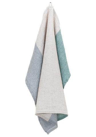 Terva-pyyhe 85 x 180 cm, valko-multi-pellava-haapa