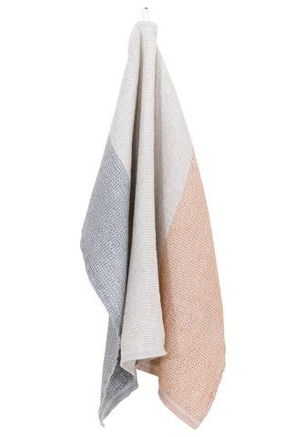 Terva-pyyhe 85 x 180 cm, valko-multi-kaneli