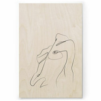 Plywood Print: BREATH 30x40 cm