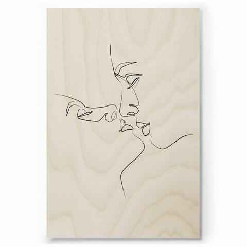 Plywood Print: CLOSER 30x40 cm