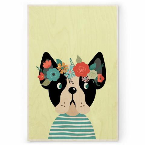 Plywood Print: DOG 30x40 cm
