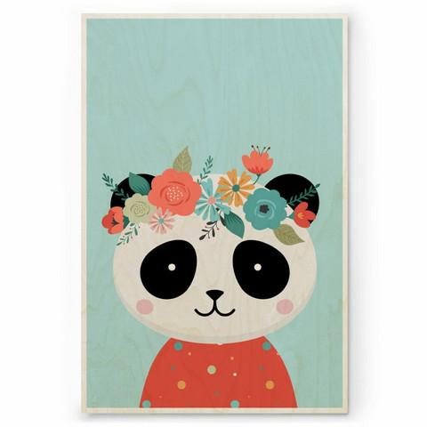 Plywood Print: PANDA 30x40 cm