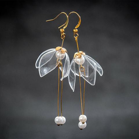 Clear Lily Douple-Drop -korvakorut