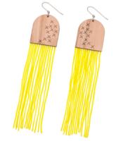 Porvoo-korvakorut koukulla, keltainen