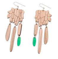 Kymintehdas-korvakorut vihreä (matta, koukulla)