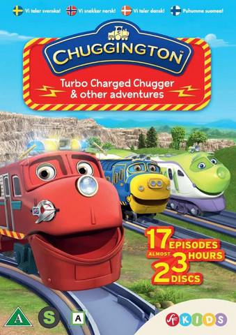Chuggington Turboladatut tuksut dvd 2 levyä