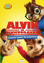 Alvin ja pikkuoravat BOX 1+2+3+4 dvd