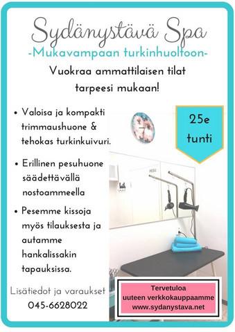 Kylpylätilan vuokraus asiakkaan käyttöön
