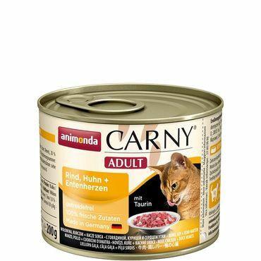 Animonda Carny Adult nauta,kana&ankan sydän 200g