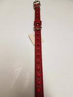 Timanttipanta punainen pintanahkaa 45cm