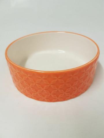 Keraaminen kuvioitu kuppi oranssi