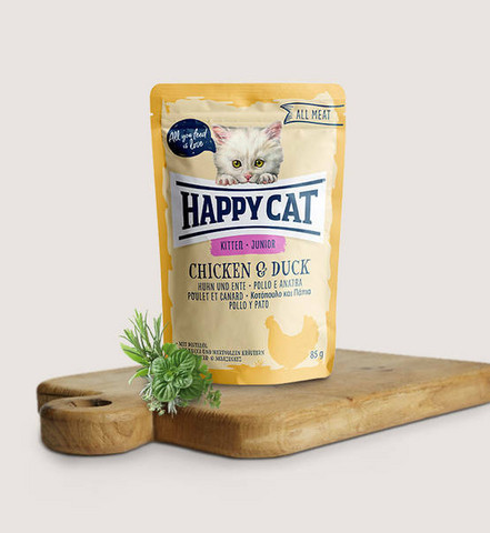 Happy Cat All Meat Kitten Kana-ankka 85g