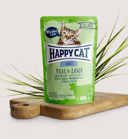 Happy Cat All Meat Adult Vasikka-lammas 85g