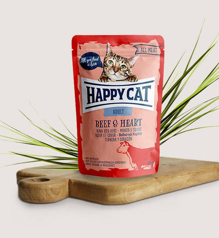 Happy Cat All Meat Adult Nauta-sydän  85g