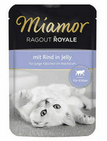 TARJOUS Miamor kitten naudanlihaa hyytelössä 100g kastikkeessa