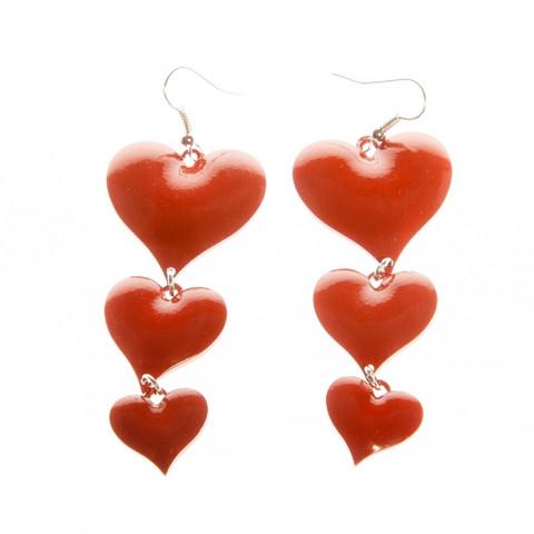 Herttaiset sydän-korvakorut