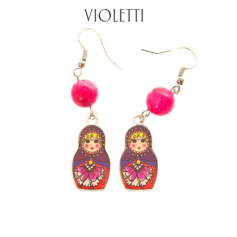 Colorful Matryoshka Earrings Diffe Colors Available