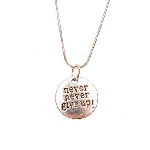 Never give up necklace koruharakka never give up necklace aloadofball Images