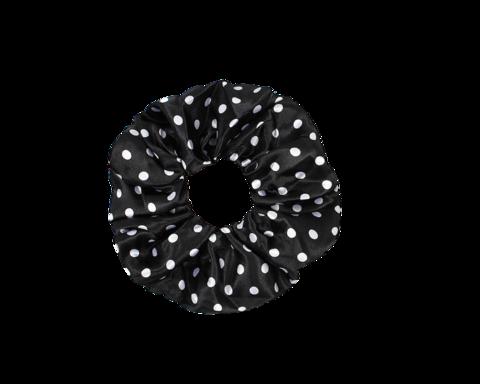 Pilkullinen scrunchie / hiusdonitsi.