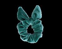 Merenvihreä schrunchie ponnari pupun korvilla