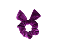 Violetti schrunchie ponnari pupun korvilla