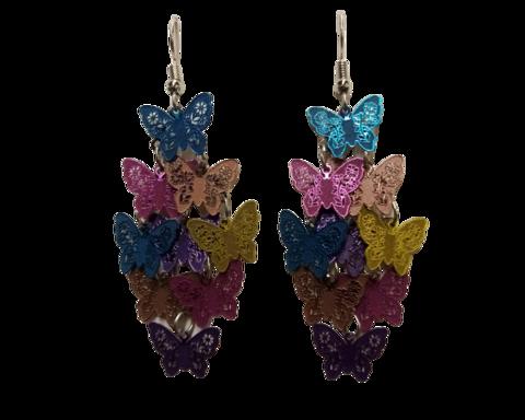Perhosen lento korvakorut (eri värejä)