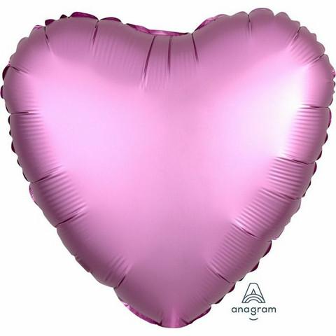 Foliopallo, satiinipinkki sydän