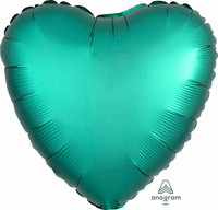 Foliopallo, satiinivihreä sydän