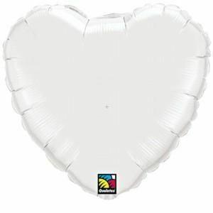 Foliopallo, valkoinen sydän