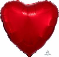 Foliopallo, punainen sydän