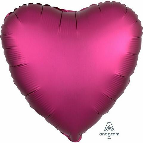 Foliopallo, satiinifuksia sydän