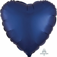 Foliopallo, satiinitummansininen sydän