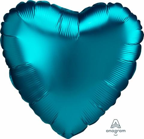 Foliopallo, satiiniturkoosi sydän