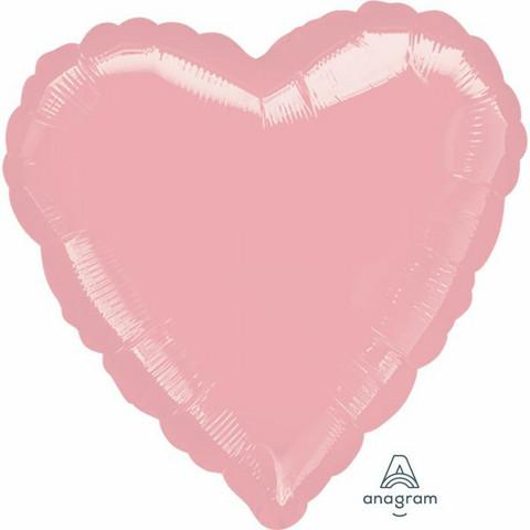 Foliopallo, vaaleanpunainen sydän